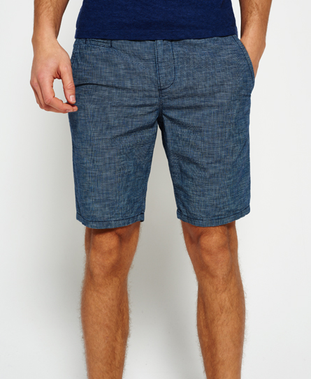 end on end indigo Superdry International Sun Scorched Chino Shorts