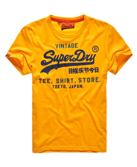 Mens shirt shop t shirt in gold marl superdry for Shop mens t shirts