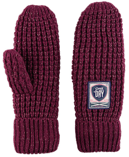 Superdry Herder Mittens Purple