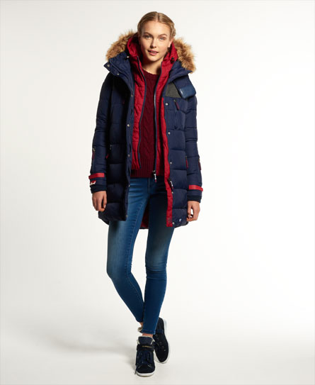 Superdry Dark Element Hooded Parka Jacket
