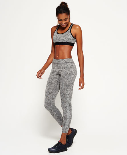 anthracite chiné Superdry Legging Core Gym
