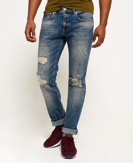 verwischt blau gerippt Superdry Slim Jeans