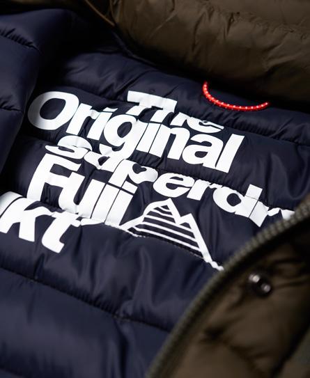 Superdry Chaqueta Slim fit con capucha y doble cremallera Fuji