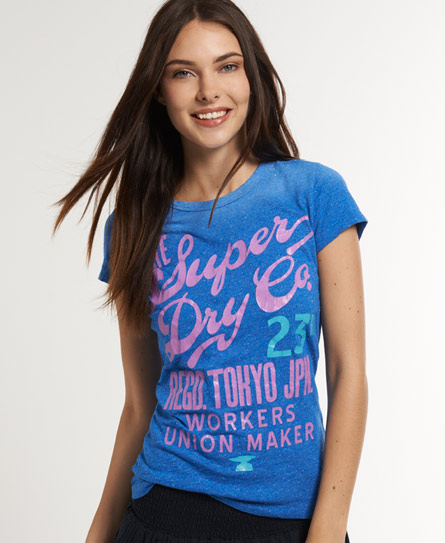 Superdry Workers Union T-shirt Blue