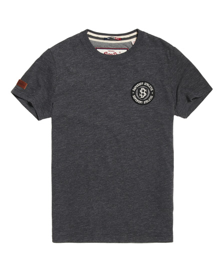 dunkelgrau Superdry T-Shirt mit Applikation