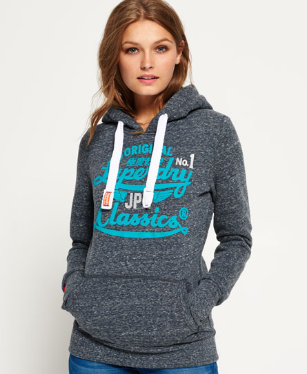 eclipse navy snowy Superdry Icarus Duo Hoodie