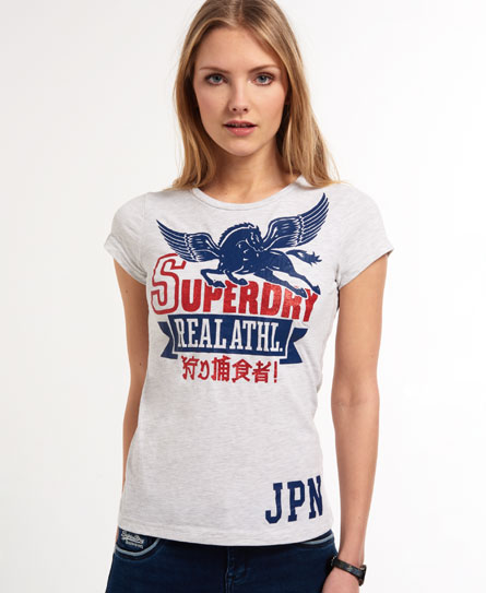 Superdry Pegasus T-shirt Light Grey