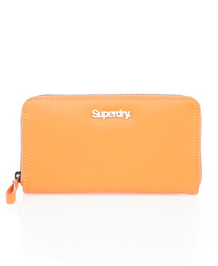 Superdry Long Zip Wallet Orange