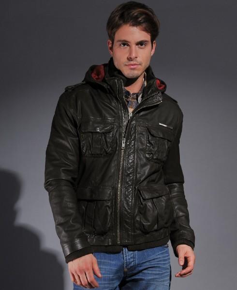 Mens leather jacket superdry