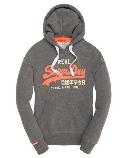 Superdry Vintage Logo Duo Hoodie Grey