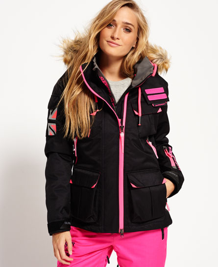 black Superdry Ultimate Snow Service Jacket