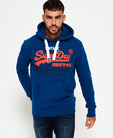 blau gesprenkelt Superdry Dreifarbiges Sweat Shirt Store Hoodie