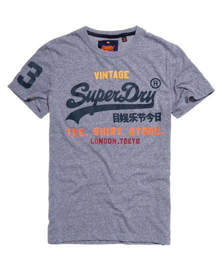mens shirt shop t shirt in blue snow superdry