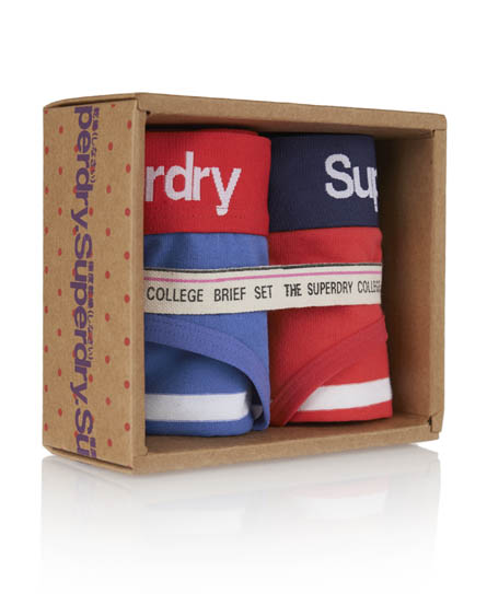 Superdry College Brief Twin Pack Multi