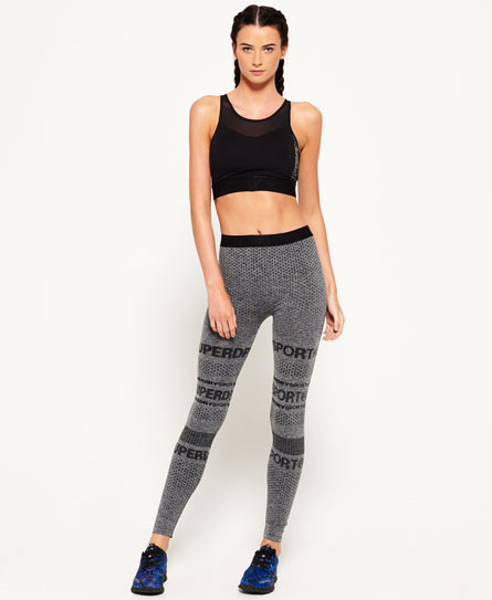 speckle charcoal Superdry Legging sans coutures Superdry Gym