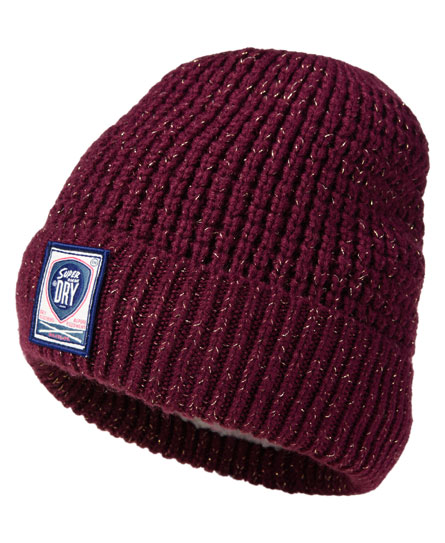 Superdry Herder Beanie Purple
