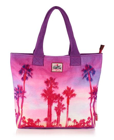 Superdry Summer Time Tote Bag Purple