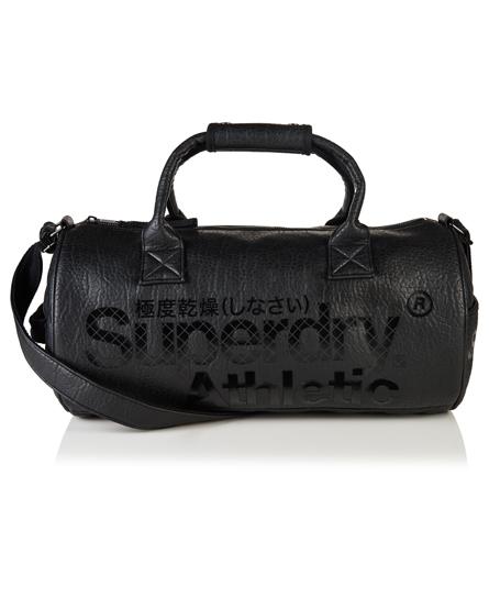 black Superdry Athletic Barrel Bag