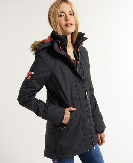 superdry pop zip wind parka damen jacken m ntel. Black Bedroom Furniture Sets. Home Design Ideas