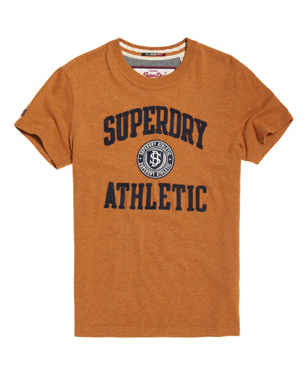 jim senffarben meliert Superdry T-Shirt mit Applikation