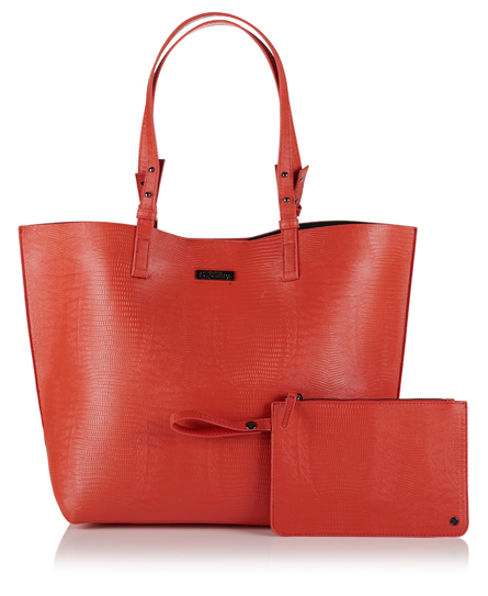orange Superdry Olivia Tote Bag