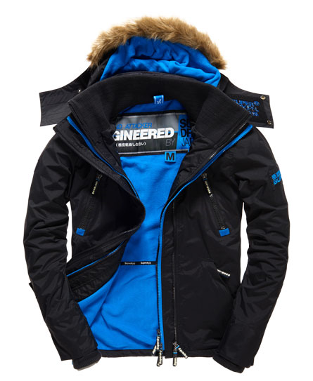 coupe Veste homme De À Bordée Attacker Arctic Vent Wind Fourrure Capuche 4TzqS4F