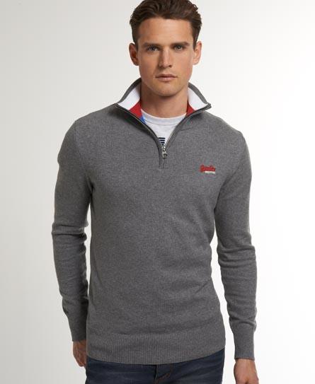 Superdry Stripe Regatta Henley Grey