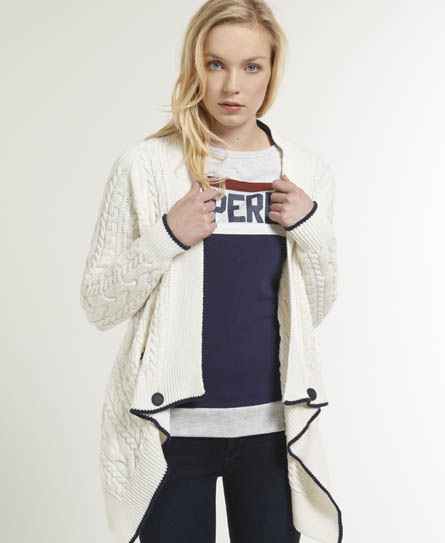 Superdry Shipping Cardigan White