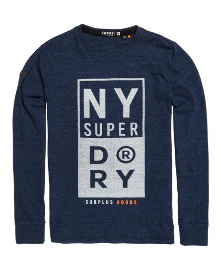 Surplus Goods T-shirt met lange mouwen en grafische opdruk