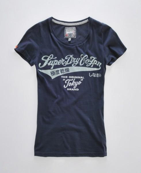Superdry Glitter Tokyo T-shirt Blue