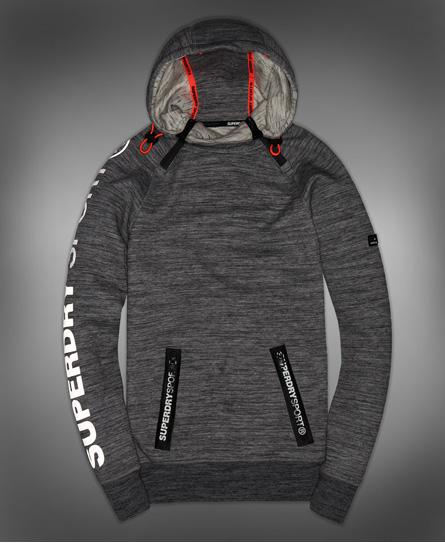 Superdry Gym Tech hættetrøje med 2 lynlåse