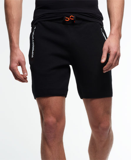 black Superdry Gym Tech Slim Shorts