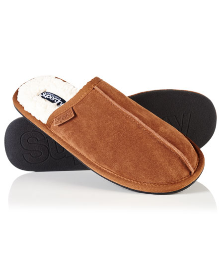 Superdry Suede Slippers - Menu0026#39;s Shoes