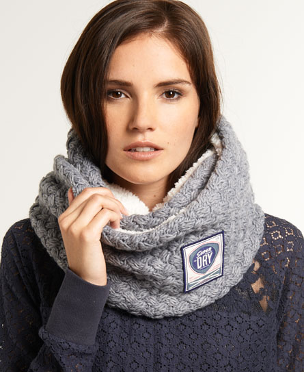 Superdry Cable Herder Snood Grey