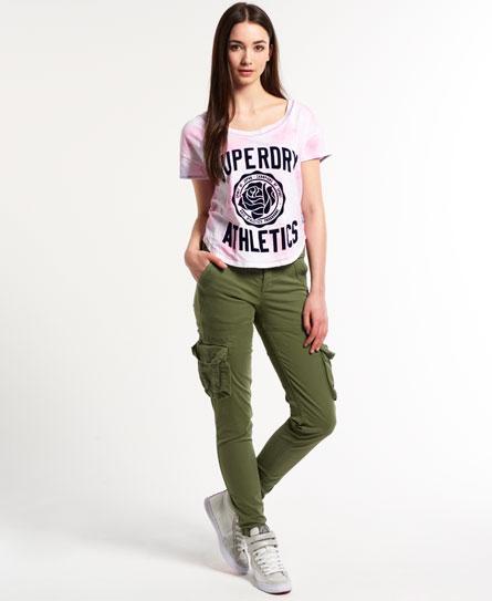pantalon kaki superdry femme