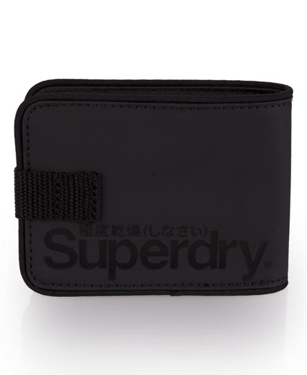 Superdry Pop Strap Tarp Wallet Black