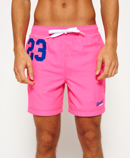 echo pink Superdry Premium Water Polo Shorts