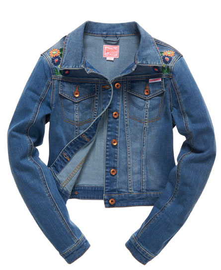 Superdry Embroidered Denim Jacket