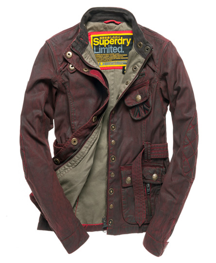 Superdry Despatch Rider Jacket Red