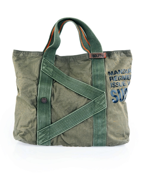 Superdry Super Issue Tote Bag Green