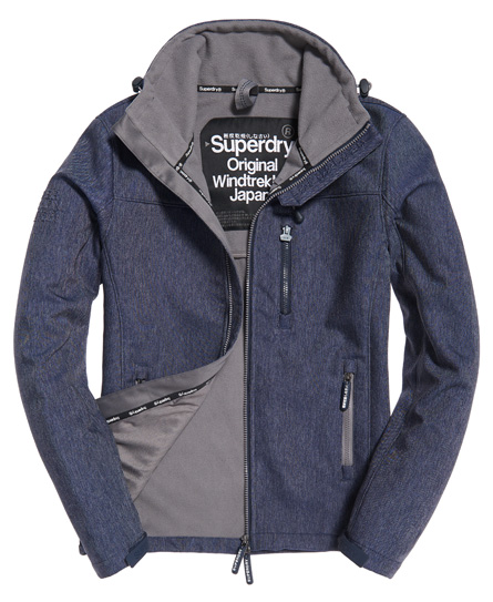 indigoblau gesprenkelt/stahlgrau Superdry SD-Windtrekker Jacke