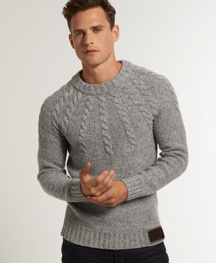 Mens - Propeller Knit in Grey Nep Superdry
