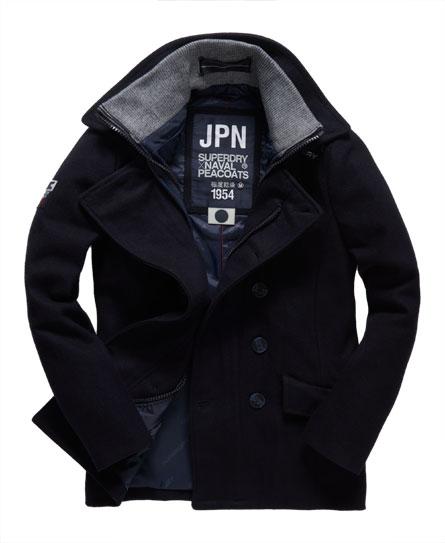 superdry caban classic peacoat vestes pour homme. Black Bedroom Furniture Sets. Home Design Ideas