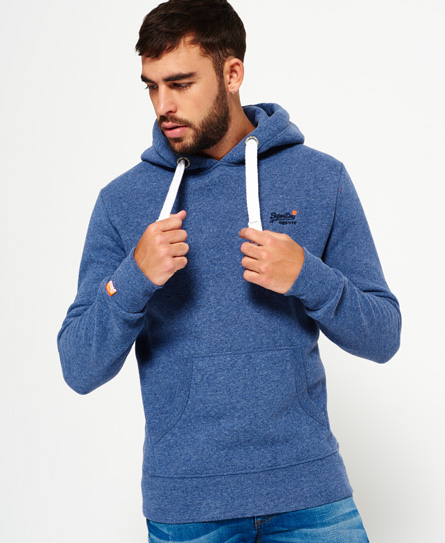 marineblau gesprenkelt Superdry Orange Label Hoodie