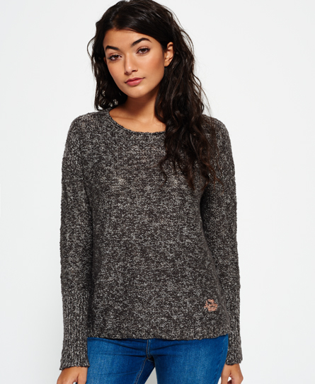 charcoal/rose gold lurex twist Superdry Super Icarus Strickpulli