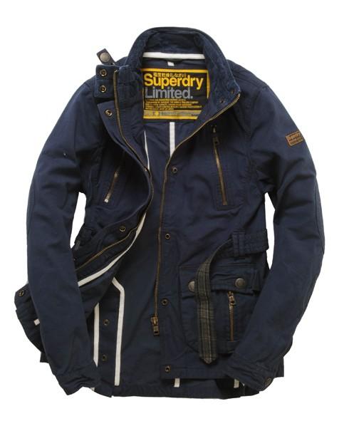 Superdry Carburettor Coat Blue