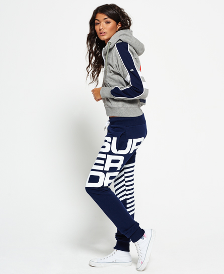superdry diagonal sports jogginghose damen jogginghosen. Black Bedroom Furniture Sets. Home Design Ideas