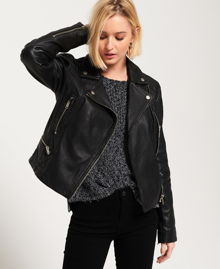 Superdry L.A Leather Biker Jacket