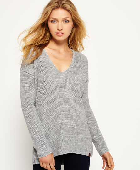 grey ice Superdry Almeta Knit Jumper