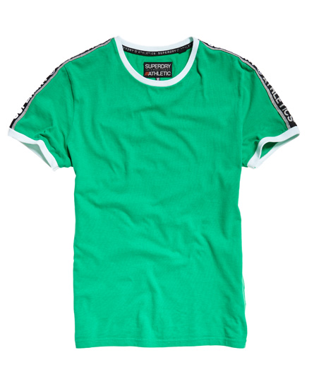 superdry stadium leuchtend grün Superdry Stadium Ringer T-Shirt